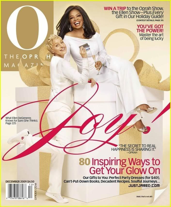 ألين دي جينيريس على غلاف مجلة اوبرا