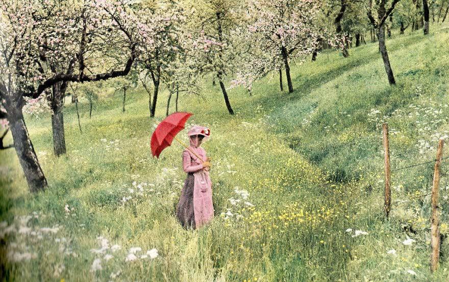 """واحدة من أولى الصور الفوتوغرافية التي تم إلتقاطها من طرف """"لويس لوميار""""، 1907"""