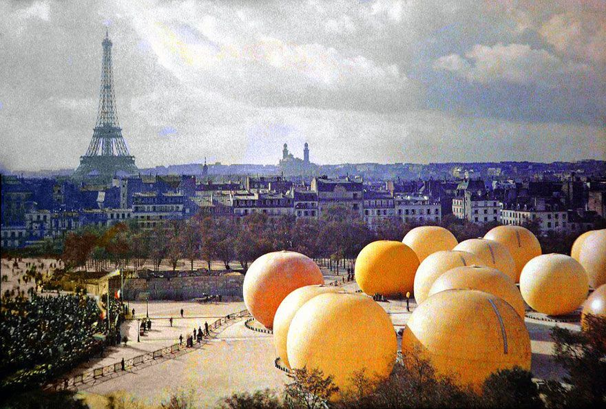 برتقالات عملاقة، باريس سنة 1914