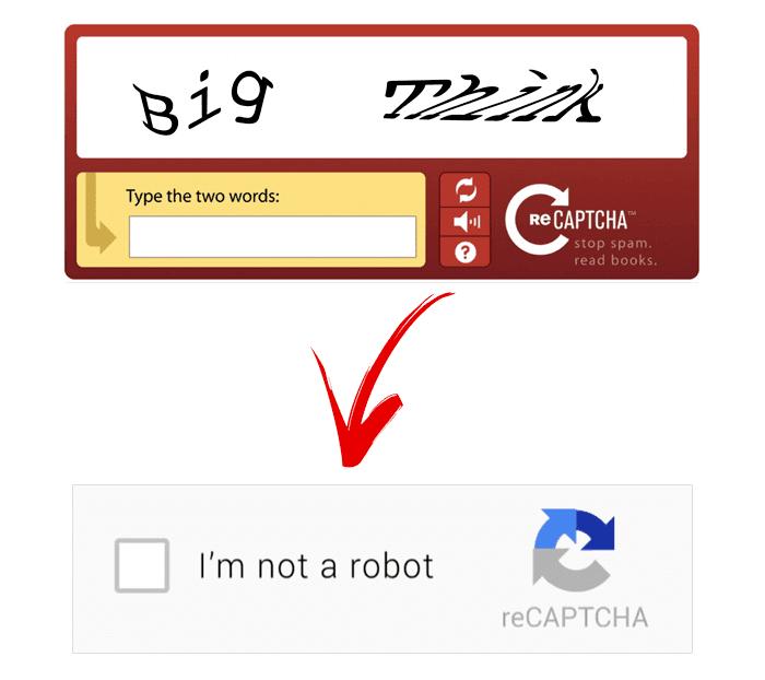 تقنية reCAPTCHA للأمان