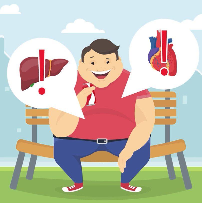تشكل الدهون حول الكبد وأمراض القلب هي النتيجة الحتمية للافراط في تناول الصودا.