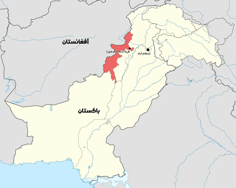 خريطة موقع قرية (دره آدم خيل).