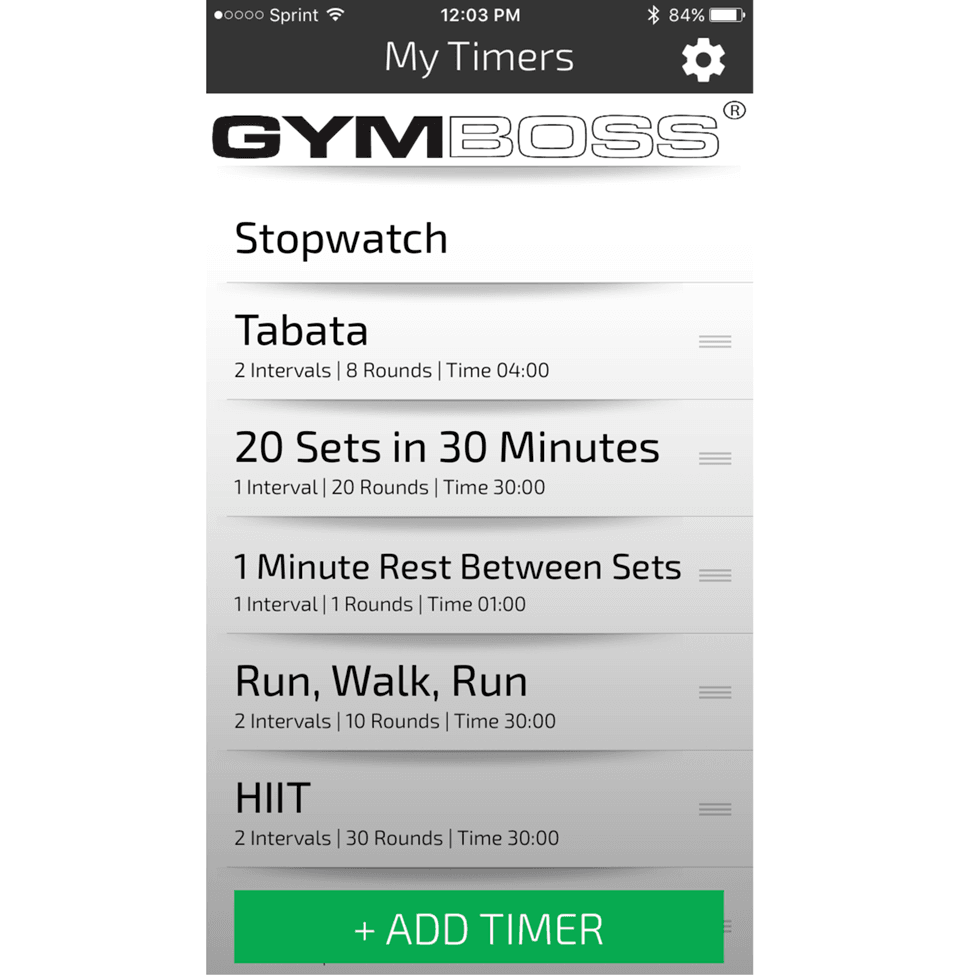 تطبيق Gymboss Interval Timer