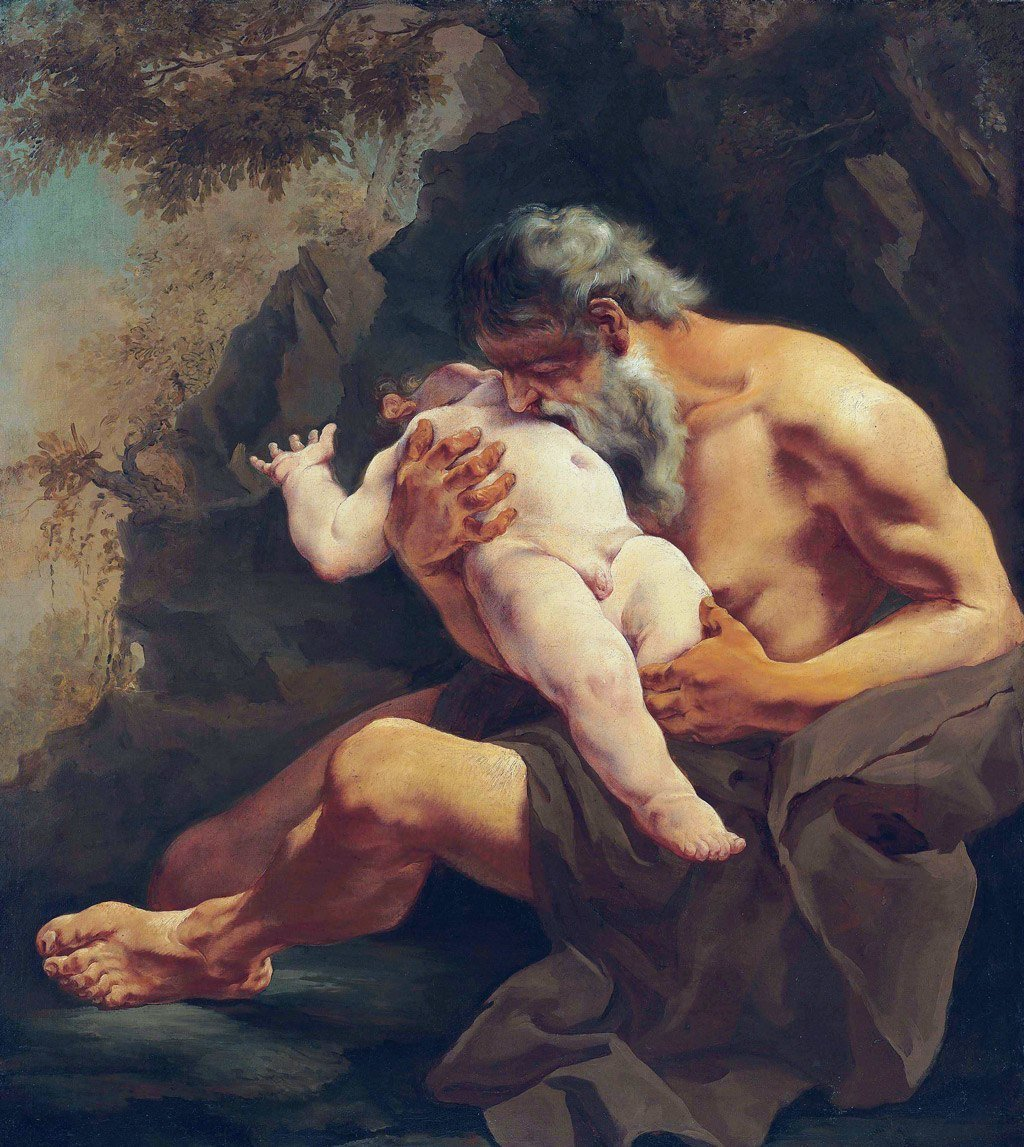 لوحة Saturn Devouring his Child للرسامة Giulia Lama