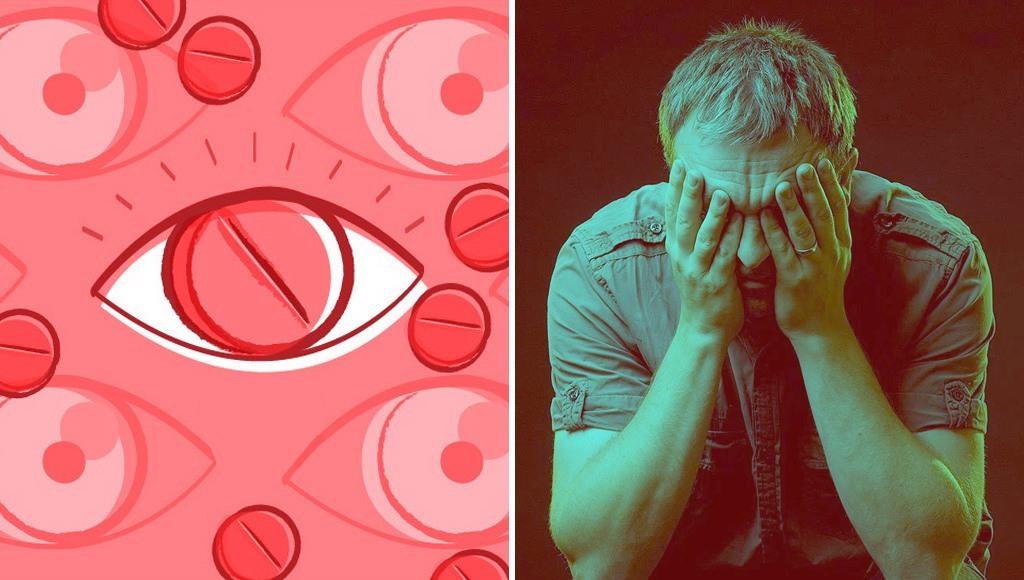 رجل تناول كمية كبيرة من دواء ضعف الانتصاب فتحول نظره إلى اللون الأحمر