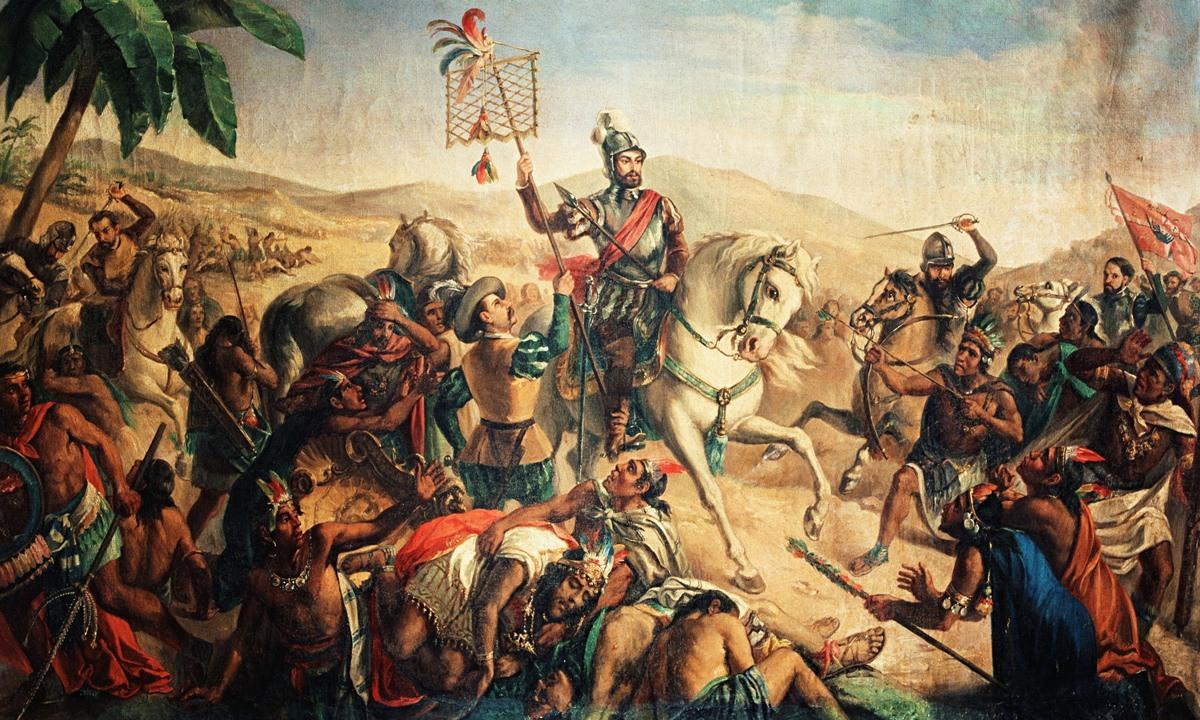 معركة (أوتومبا) سنة 1520.