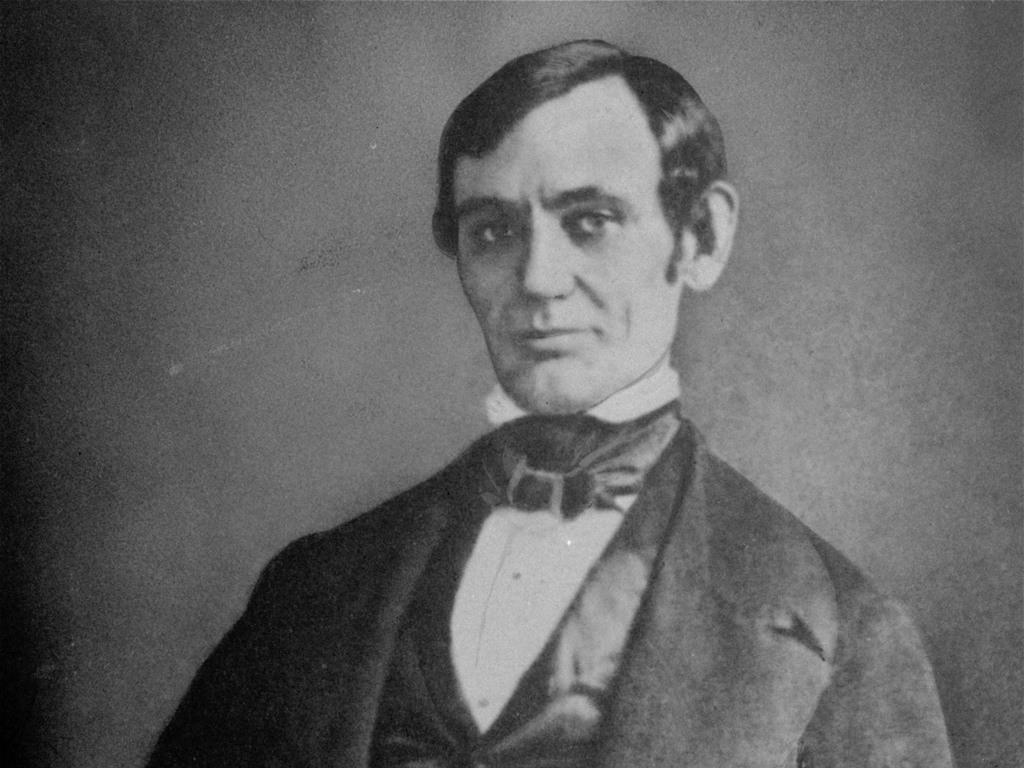 بورتريه لـ(أبراهام لينكولن) عندما كان في ريعان شبابه.