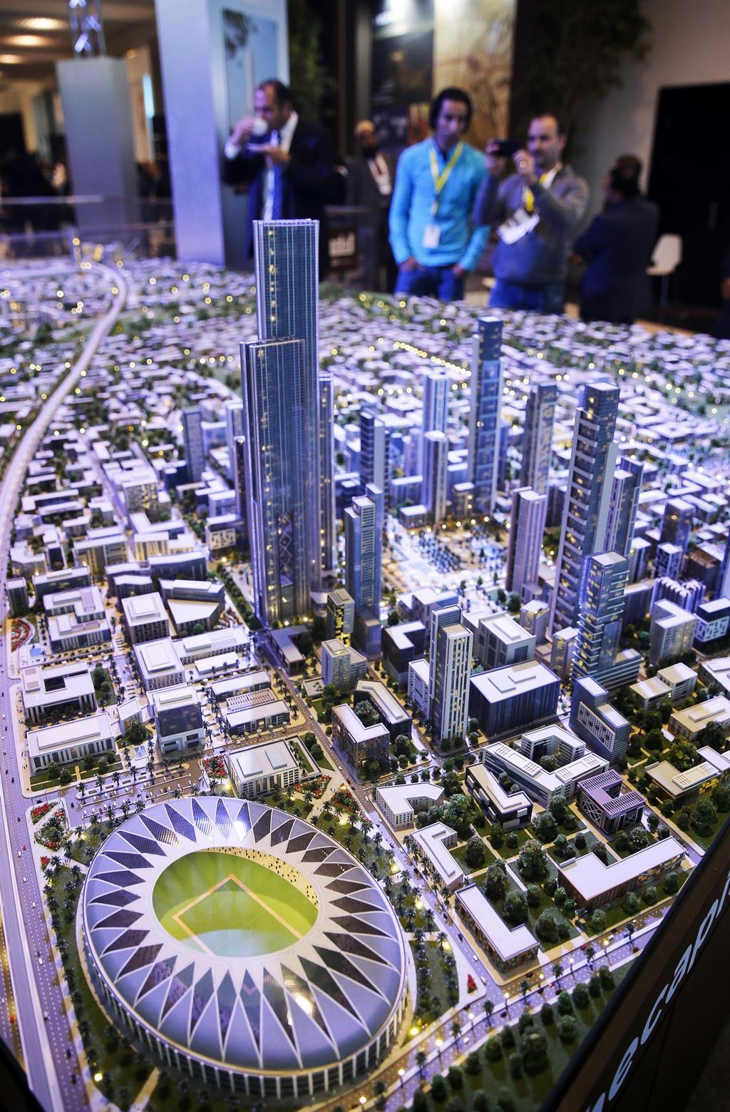 هذا نموذج للعاصمة الإدارية المصرية الجديدة، حيث تم الكشف عنه في عام 2015.صورة: Khaled Desouki/AFP/Getty Images