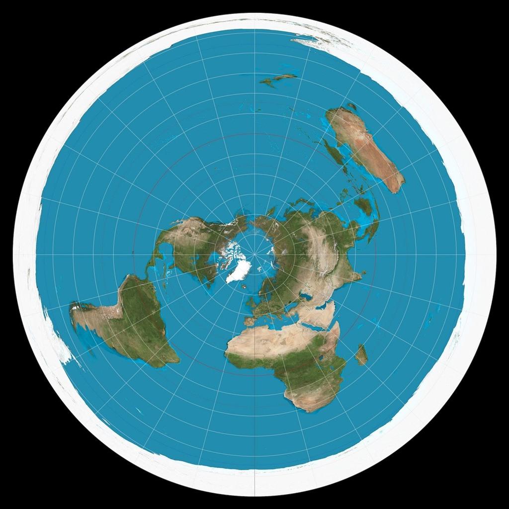 تصور مجتمع الأرض المسطحة لشكل الأرض.