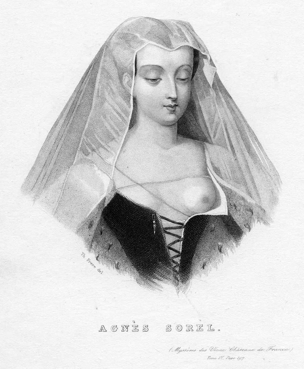 كان الملك الفرنسي (تشارلز السابع) متيماً بحب عشيقته (آغنيس سوريل) [1422–1450]، التي أنجبت معه أربع بنات.