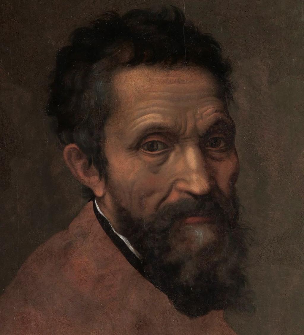 بورتريه لـ(مايكل آنجيلو)، بريشة (دانييلي دا فولتيرا)، حوالي سنة 1544.