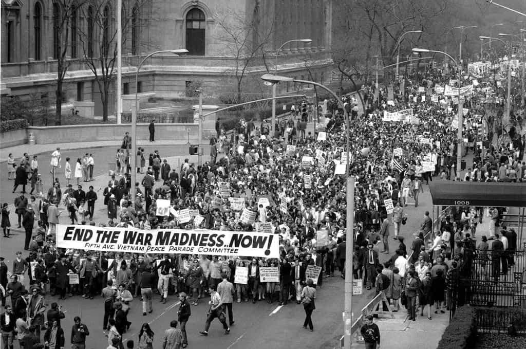مظاهرة في نيويورك ضد الحرب
