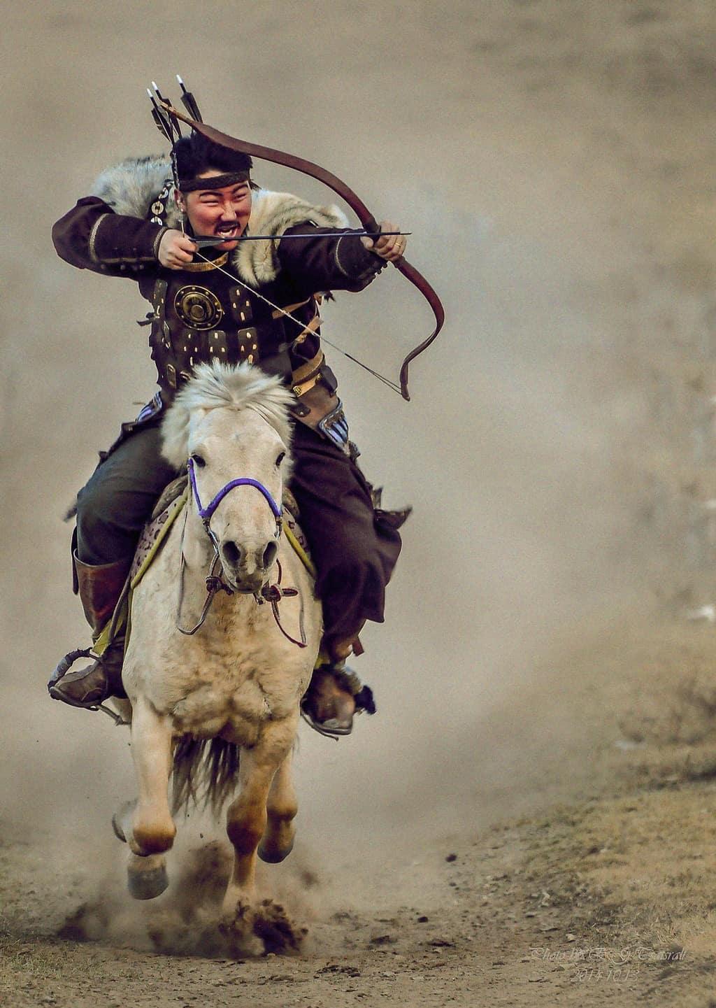 فارس من المغول