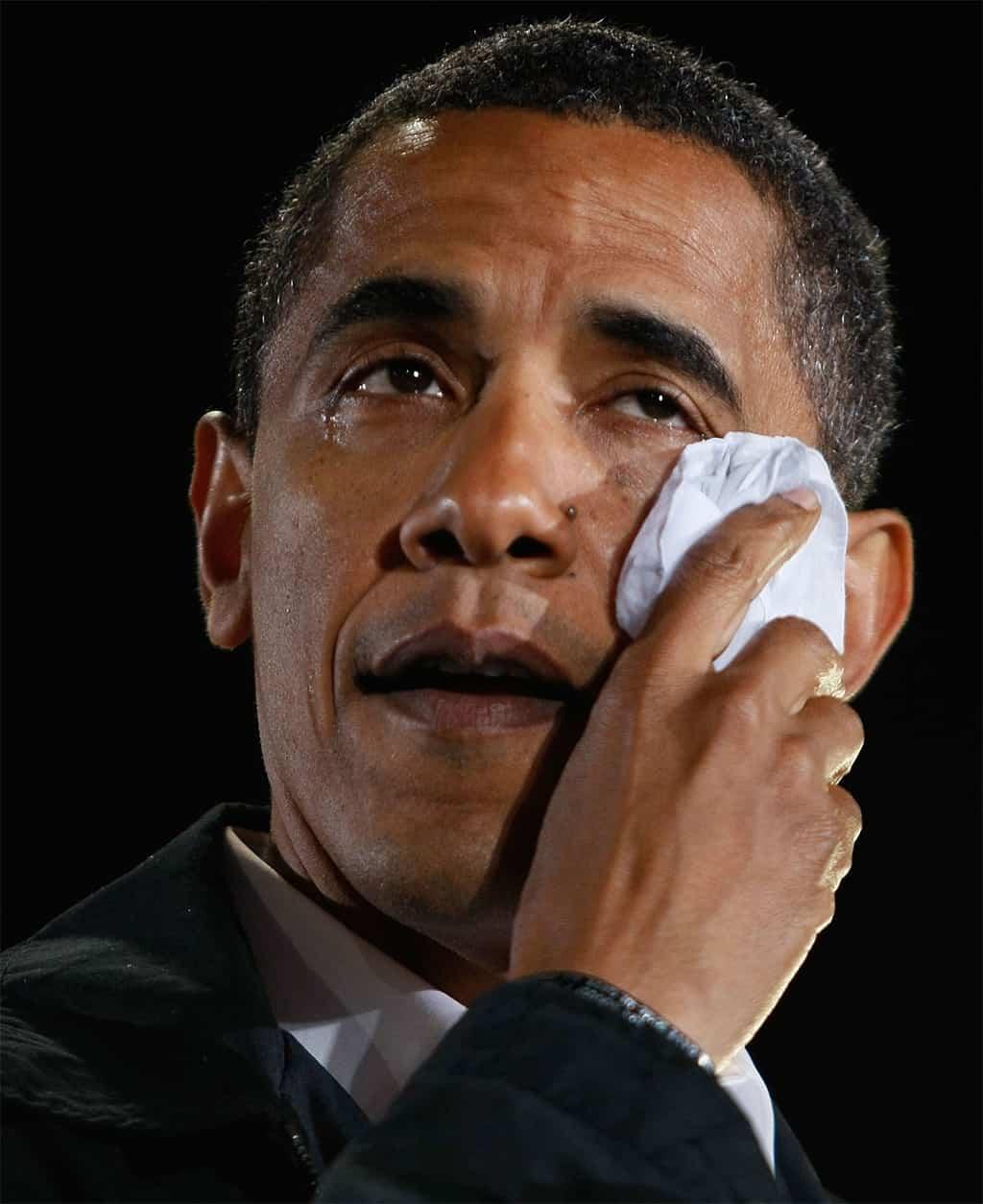 أوباما يبكي